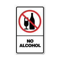 No Alcohol Sticker No Alcohol Sticker prohibited signage. 7755