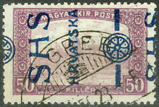 Yugoslavia SHS Croatia 1918, 50fil. Parliament Error Wrong Type of Overprint