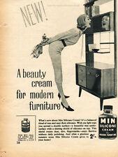 1958 Min Furniture Polish Quarter Page VINTAGE MAGAZINE AD