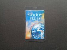 Moody Blues,World 2004 tour,Original laminated backstage pass,All Access
