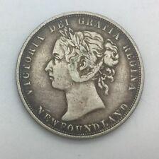 Newfoundland 1882 H  50 Cents Queen Victoria Nice Mid Grade Retoning
