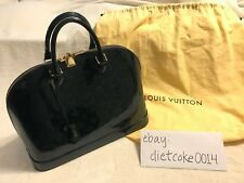 "Louis Vuitton ""Bleu Nuit"" Green Patent Leather ""Alma PM"""