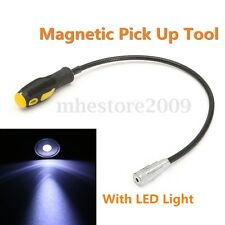 6LB LED Lights Magnetic Pick Up Tool Flexible Shaft Bendable Strong Magnet Stick