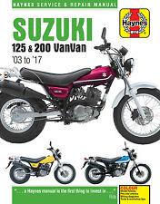 6355 Haynes Suzuki RV125/200 VanVan (2003 to 2016) Workshop Manual