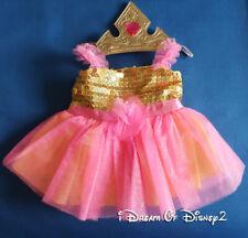 Build-A-Bear BELLE TEA CUP DRESS & TIARA DISNEY Palace Pet Teddy Clothes Costume