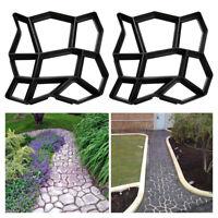 3X DIY Pflasterform Betonpflaster Gießform Schablone Schalungsform Garten Gehweg