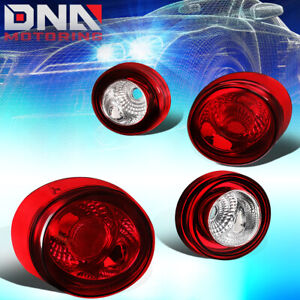 FOR 2005-2010 CHEVY CABALT 2DR COUPE CHROME/RED SKYLINE STYLE TAIL BRAKE LIGHTS