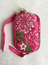 Lilly Pulitzer Wristlet Coin Pouch Fleece Lining Pink Green