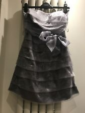 Zuppe Grey Sheer cocktail dress Sheer Bandeau Lined  Size 10 strapless