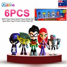 UK Teen Titans Go Hero Raven Robin Cyborg Starfire Kids Action Figure Model Toys