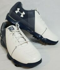 YOUTH Under Armour Spieth 2 Golf Shoes 3000220-100 boys size 4y WHITE BLUE ⛳ 🏌️