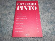 VINTAGE 1977 FORD PINTO OWNER's MANUAL : NICE ORIGINAL FACTORY OEM