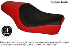BLACK & RED VINYL CUSTOM FITS HARLEY DAVIDSON SPORTSTER 883 1200 DUAL SEAT COVER
