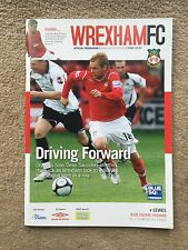 Wrexham v Lewes - Blue Square Premier 2008/09 Programme