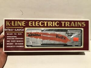 K-line  Western Pacific Orange Feather Silver Classic Boxcar NEW