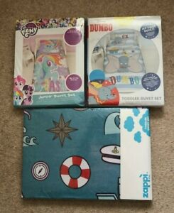 Cot Bed Junior Toddler Duvet Cover and Pillowcase Choice 150 x 120cms Protector
