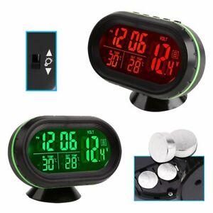 Auto Digital Innen/Aussen Thermometer/Spannung-Monitor/Uhr für Auto Voltmeter