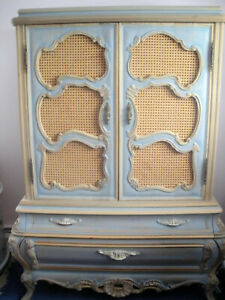 Thomasville chest on chest, antique blue, 45 x 63 excellent condition