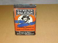 VINTAGE SIR WALTER RALEIGH PIPE & CIGARETTES SMOKING TOBACCO TIN *EMPTY******