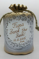Large, HAND MADE, Personalised Pot Of Dreams/Money Box, Break To Open, Any Text!