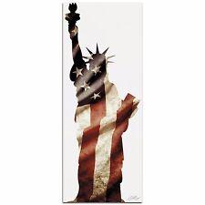 LADY LIBERTY Contemporary Patriotic Metal Art NYC Statue of Liberty Flag Artwork