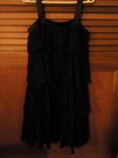 Target evening black chiffon rah rah tier dress with satin straps size 12