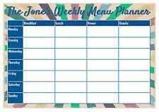 A4 Personalised Weekly Meal Planner - Add name - Reusable - with Pen - D2
