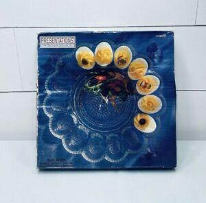 Vintage Presentations Deviled Egg Platter Clear