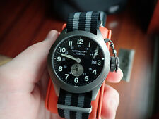 NICE HAMILTON KHAKI AUTOMATIC WRISTWATCH WITH BOX AND PAPERS REF H77445533