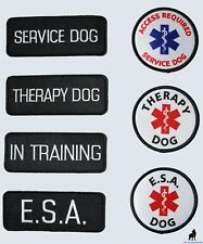 Service Dog - ESA Support Animal - Therapy Dog - Vest Patches ALL ACCESS CANINE
