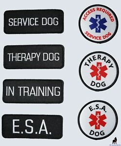 Service Dog - Therapy Dog - ESA Support Animal - Vest Patches ALL ACCESS CANINE™