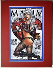 Sexy MARY JANE MAXIM Cover PRINT Professionally Matted Jamie Tyndall Spider-Man