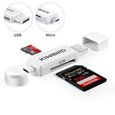 KiWiBiRD Micro USB OTG / USB 2.0 SD / Micro SD / TF Card Adapter Reader