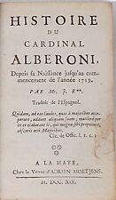 ROUSSET DE MISSY Histoire du cardinal Alberoni. 1719