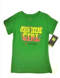 NEW Green Glitter John Deere Girl T-Shirt Size 14/16