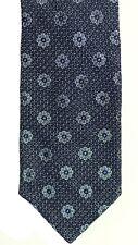 New Mens Ted Baker London Navy Floral Silk Slim Neck Tie Necktie Made in USA