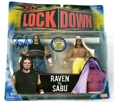 2006 TNA Impact Raven vs. Sabu Signed Figures Lock Down MOC Sealed - VERY RARE