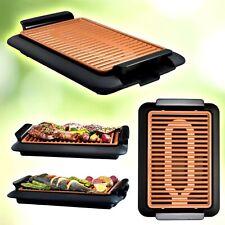 Grill elettrico zero fumo senza odori in titanio e ceramica griglia bistecchiera