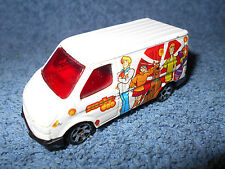 "1995 MATCHBOX WHITE FORD TRANSIT SCOOBY-DOO MOBILE 1:63 DIECAST 3"" VAN - NICE"
