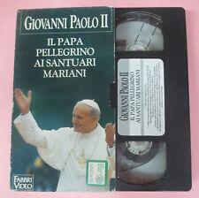 VHS film GIOVANNI PAOLO II 10 Il papa pellegrino ai santuari mariani(F113)no dvd
