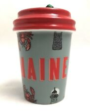 "Limited Edition Starbucks ""Maine"" Ceramic Christmas Ornament RARE! SHIPS FAST!!"
