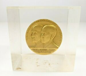 50th Anniversary Powered Flight Wright Brothers Coin Paperweight Kilenyi 1953