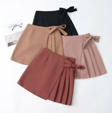 New Women Fashion Korean Summer Pleated Skirt Slim A-line Casual Mini Bow Sexy