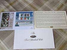 Charles Wesley Hark The Herald Angels Sing Benham oro 500 Club FDC/cubierta