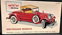 Vintage Hubley Model 1930 Packard Roadster 1:22 Scale, #860-500 Metal Kit Car
