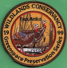 """Pa Pennsylvania Fish Game Commission 1999 Wildlands Conservancy 4"""" Turkey Patch"""