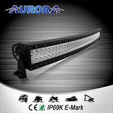 """Aurora 50"""" 300W LED Luz Barra Curvada 4x4 ALO-C-50-P4E4K Spot inundación offroad Combo"""