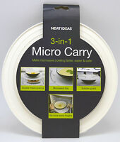 Neat Ideas 3-in-1 Micro Carry - Microwave heat resistant tray