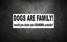 Dogs are family 7'' vinyl car sticker decal buy 1 get 1 free k9 lab dog funny