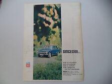 advertising Pubblicità 1963 SIMCA 1300 GL